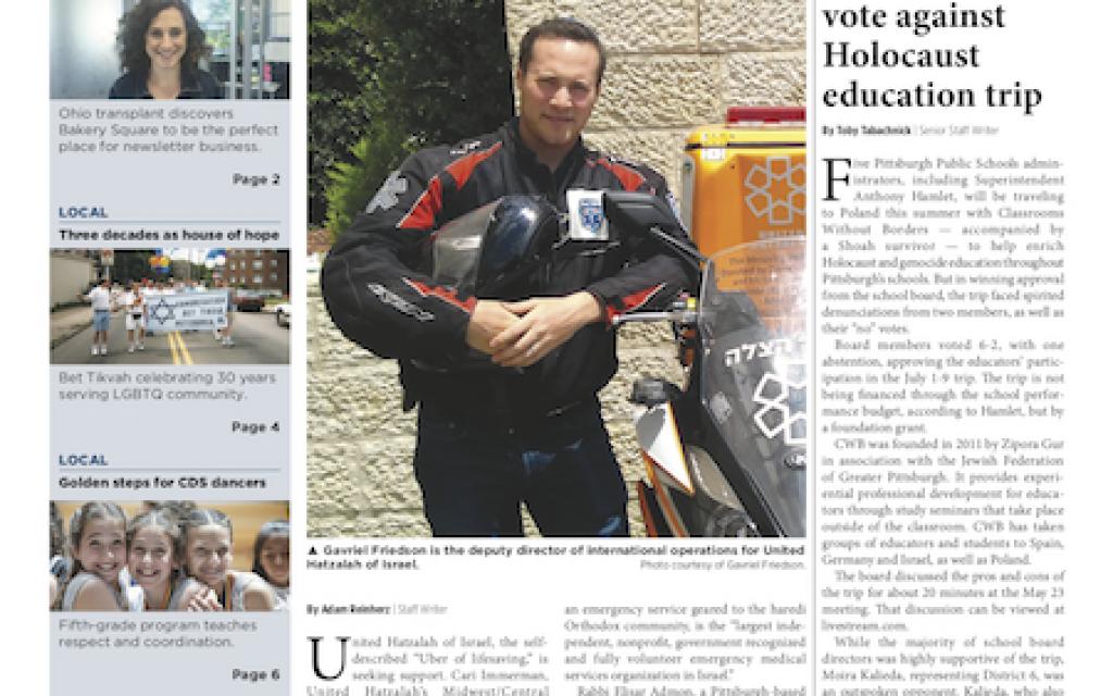 (Pittsburgh Jewish Chronicle 6/1/2018)