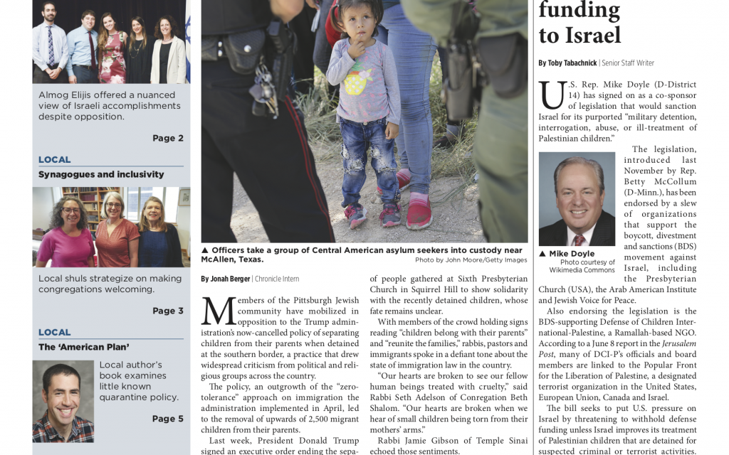 Pittsburgh Jewish Chronicle 6/29/2018