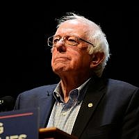 Sen. Bernie Sanders speaks at a MoveOn.org rally in Reading, Pa. (Photo by Lisa Lake/Getty Images for MoveOn.org)