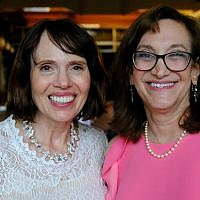 Co-authors Maureen Kelly Busis and Lisa Lurie at the booklet's launch event. (Photo courtesy of Lisa Lurie)
