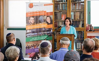 Deborah Shapira is chair of the North American board of the Pardes Institute of Jewish Studies and daughter of Karen Shapira. (Photo courtesy of Pardes Institute)