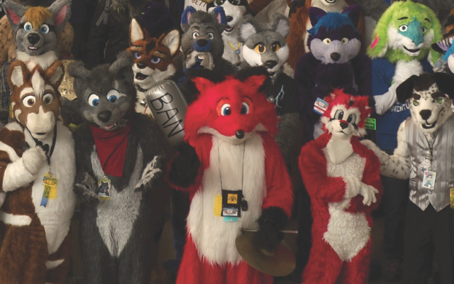 "While they may be the most recognizable part of the convention, only 20 percent of Anthrocon's attendees wear costumes. (Photo by Karl ""Xydexx"" Jorgensen)"