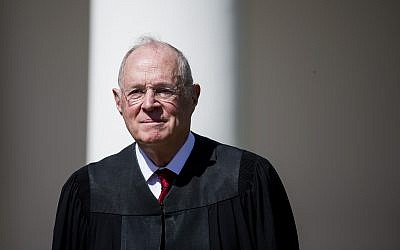 Supreme Court Justice Anthony Kennedy is shown at a White House ceremony in 2017. (Photo by Eric Thayer/Getty Images)