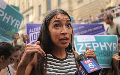 Congressional nominee Alexandria Ocasio-Cortez campaigns for New York attorney general candidate Zephyr Teachout. (Photo by Spencer Platt/Getty Images)