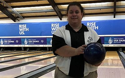Bowler Isadora Silk at the Special Olympics USA Games in early July, where she won a bronze medal. (Photo courtesy of Leonard Silk)