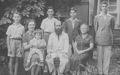 The Shapiro family in Yokohama in 1941. (Photo courtesy of Isaac Shapiro)
