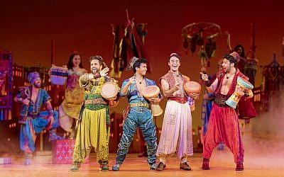 Zach Bencal, Phillipe Arroyo, Clinton Greenspan, & Jed Fedder, from Aladdin.  (Photo by Deen van Meer)