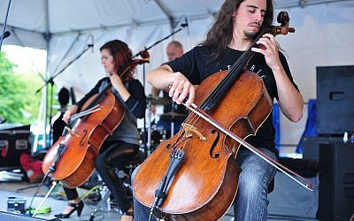 Cello Fury performing at a Fair in the Park. (Photo by Jennifer Saffron, courtesy of Greater Pittsburgh Arts Council)