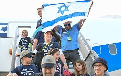 The July 24 Nefesh B'Nefesh flight brought 127 children to Israel, a milestone for the nonprofit organization. (Photo by Shahar Azran)
