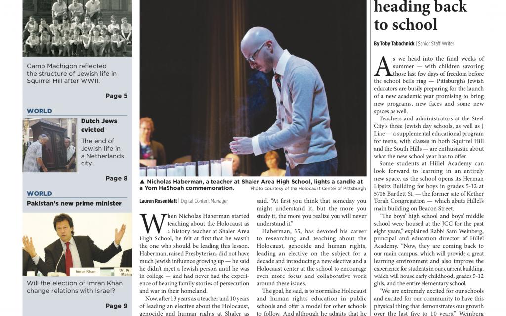 Pittsburgh Jewish Chronicle 8/10/2018