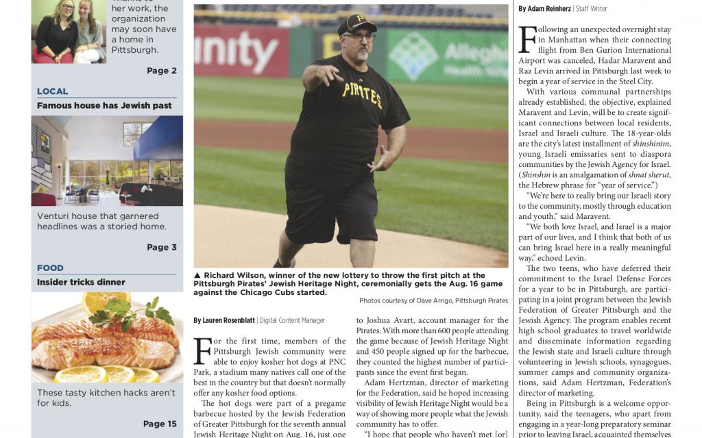 Pittsburgh Jewish Chronicle 8/24/2018