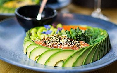 The poke bowl dish at The Avocado Show in Amsterdam is among the the many images patrons share on social media. (Photo courtesy of The Avocado Show)