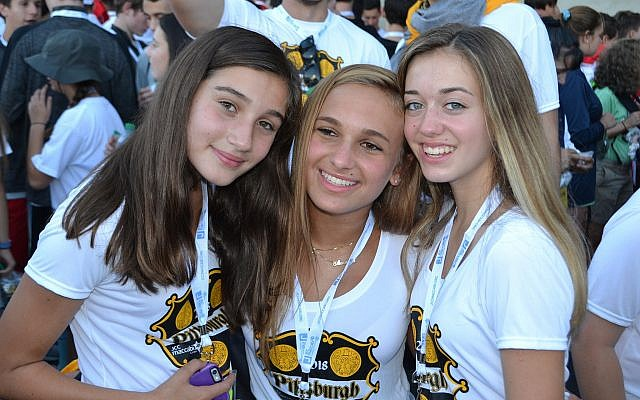From left: Zoe Zuckerbraun, Alexandra Jaffe and Hannah Friedlander. (Photo courtesy of Jewish Community Center of Greater Pittsburgh)