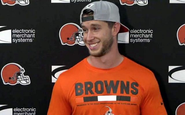The Cleveland Browns have signed kicker Greg Joseph. (Photo screenshot/Facebook/Cleveland Browns)