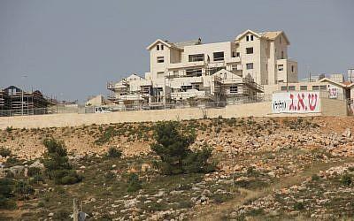 A housing development in the Israeli West Bank settlement of Efrat, a bedroom community outside Jerusalem. (Photo by Ben Sales/JTA)