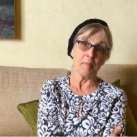 Rabbi Rachel Cowan, diagnosed with brain cancer, released a video with a message for Congress in August 2017. (Photo screenshot of video, courtesy of JTA)