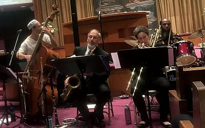 Members of the Afro-Semitic Experience perform at S'lichot: An Evening of Reflection, Devotion & Jazz. (Photo courtesy of Temple Sinai)