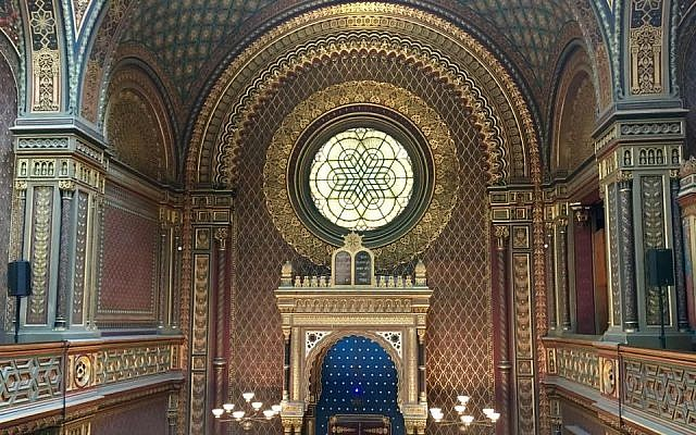 A view from inside Prague's Spanish Synagogue. (Photo by Margarita Gokun Silver)