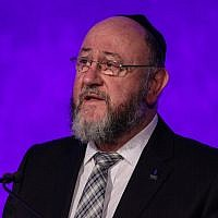 """U.K. Chief Rabbi Ephraim Mirvis wrote how LGBT students experience """"feelings of deep isolation, loneliness and a sense that they can never be themselves."""" (Photo by Jack Taylor/Getty Images)"""
