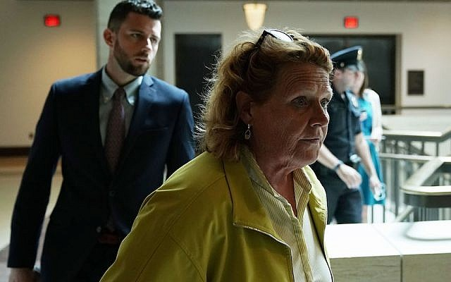 Sen. Heidi Heitkamp arriving at the U.S. Capitol, Aug. 22, 2018. (Photo by Alex Wong/Getty Images)