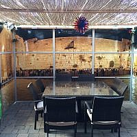 This Panoramic Sukkah re-creates Jerusalem in your backyard. (Photo courtesy of Eliyahu Alpern)