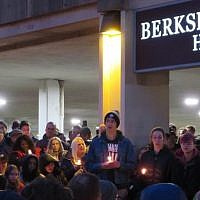 A havdalah vigil organized by high school students after the shooting drew thousands of people, Oct. 27, 2018. (Photo by Ron Kampeas/JTA)