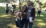 Alexandra Straytner and Zachary Levine took the course with their dog, Jofi.(Photo by Josefin Dolsten)