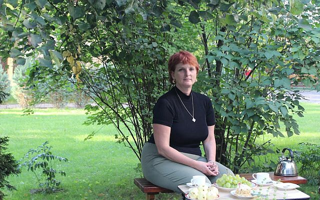 Silvia Foti while visiting a friend in Vilnius, Lithuania in 2013.(Photo by Ina Budryte)