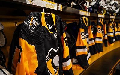 "The Penguins wore ""Stronger than Hate"" patches on their uniforms. (Photo courtesy of the Pittsburgh Penguins)"