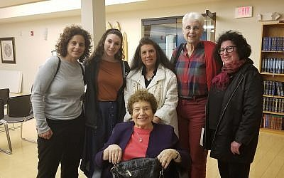 From left: Daphna Shimshi, Adah Schall, Carol Rose, Batya Rosenblum and Linda Scott. (Photo courtesy of Chabad of the South Hills)
