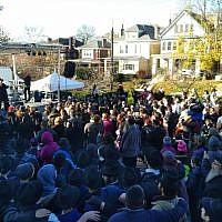 The Nov. 11 Stronger Together event brought out a free music and food loving crowd. (Photo by Adam Reinherz)