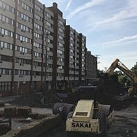 A view of construction of the construction at Riverview Towers. (Photo by Jim Busis)