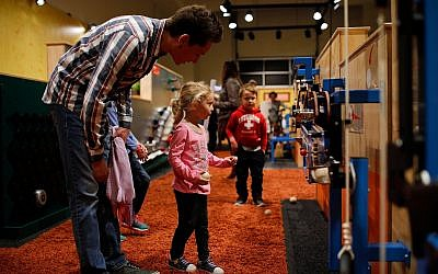 """""""Rube Goldberg: the World of Hilarious Invention."""" (Photo courtesy of Children's Museum of Pittsburgh)"""