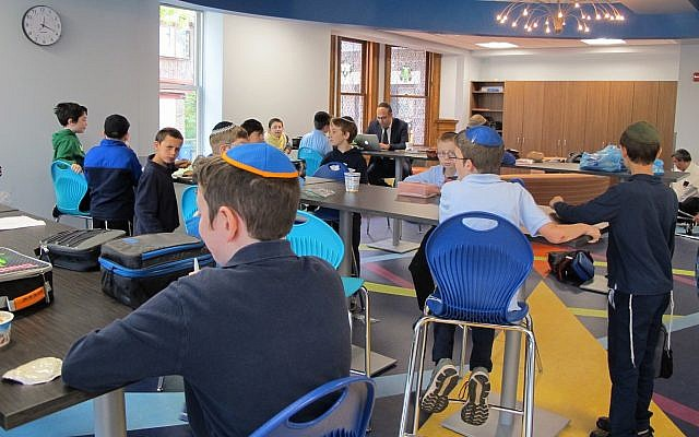 A classroom in the new building. (Photo by Micki Myers)