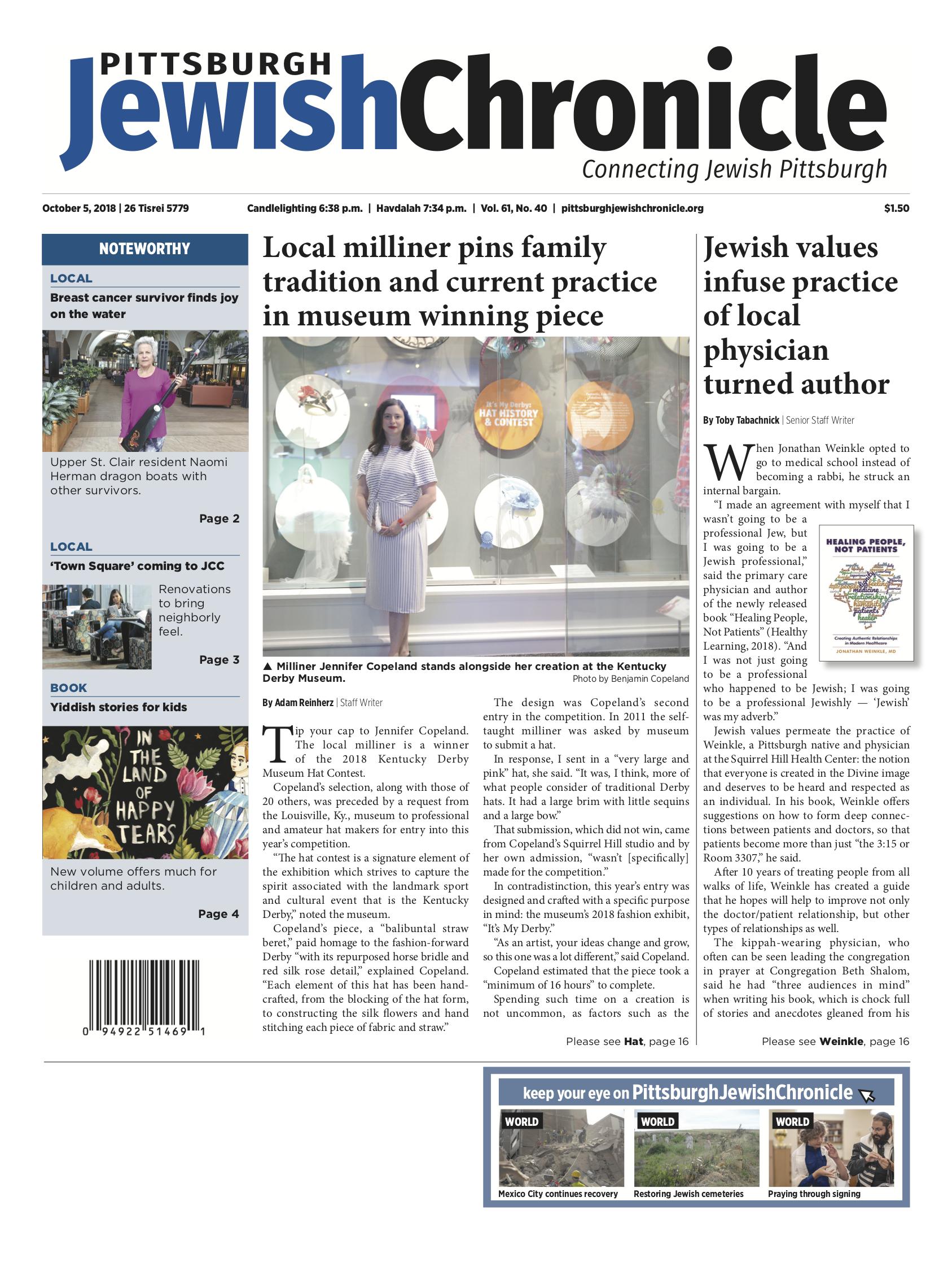 Pittsburgh Jewish Chronicle 10/5/2018