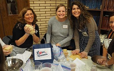 From left: Linda Holber, Karen Galor and Sally Berry. (Photo courtesy of Chabad of Squirrel Hill)