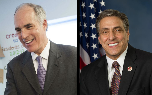 U.S. Sen. Bob Casey, left, has a comfortable lead over Republican challenger Lou Barletta in the polls. (U.S. Senator Bob Casey/Facebook;  Congressman Lou Barletta/Facebook)