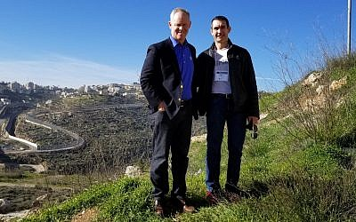 Auditor General DePasquale and Speaker Turzai at the Israel/ Palestinian seamline in Jerusalem.  Photos courtesy of Hank Butler/PA Jewish Coalition
