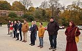 The Bhutanese Community Association of Pittsburgh held a candlelight vigil on Friday, Nov. 23, in memory of the victims of the Tree of Life shooting and commemorating the first responders of that day. 	Photo courtesy of Khara Timsina