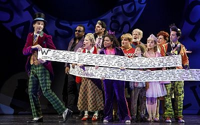 Noah Weisberg as Willy Wonka.  Photo by Joan Marcus
