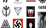 A sampling of symbols used by hate groups           Photo provided by FBI