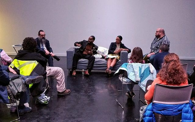 Panelists shared thoughts on the criminal justice system during a Jan. 28 event. Photo by Adam Reinherz