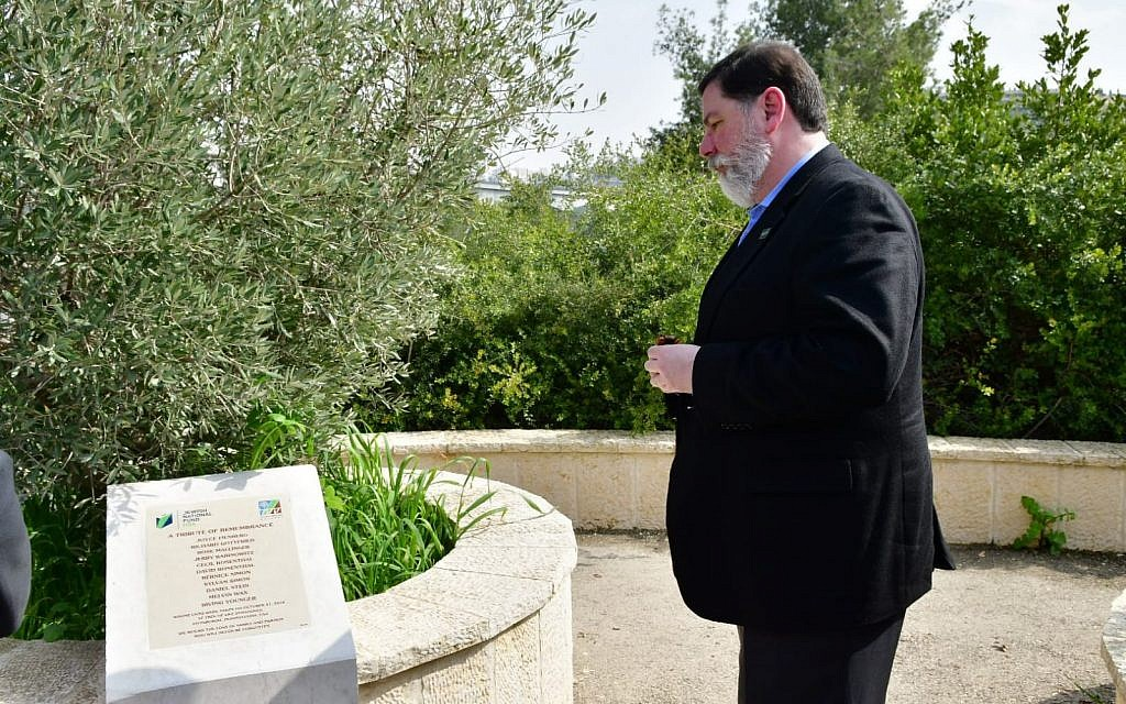 Mayor Bill Peduto visited Israel and honored the memory of those lost on Oct. 27. Photo by Rafi Ben Hakun, KKL-JNF