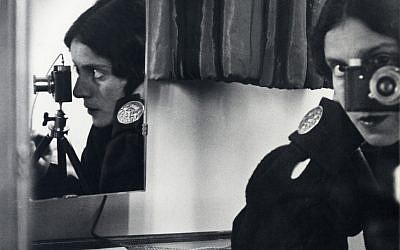 "Ilse Bing (German, 1899–1998), ""Self-Portrait with Leica,"" 1931. Gelatin silver print.   Collection of Michael Mattis and Judith Hochberg. Exhibition organized  by art2art Circulating Exhibitions."