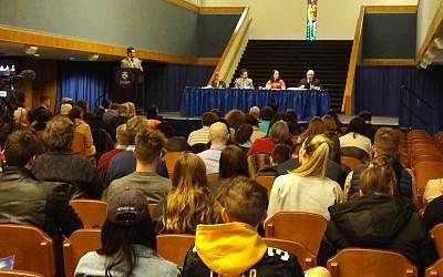 The panel at the Duquesne University Symposium  (Photo by Adam Reinherz)