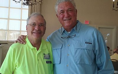 Mike Roteman, left, and Clint Hurdle.  Photo courtesy of Mike Roteman
