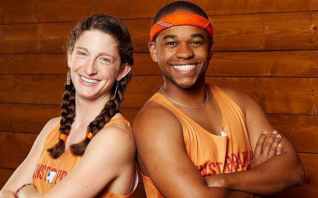 Becca Droz with Floyd Pierce Photo courtesy of CBS