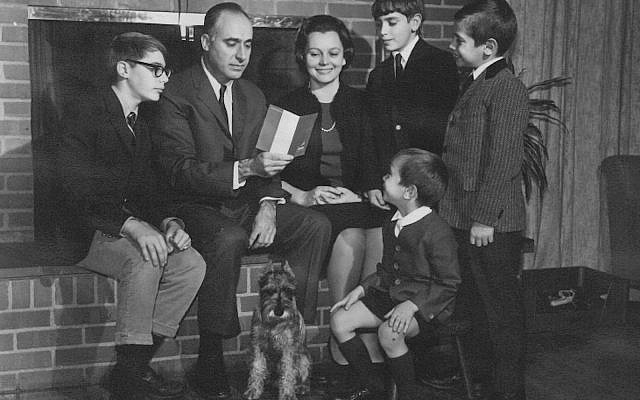 Dr. Sidney Busis, center, poses with his family in the mid-1960s.   (Photo courtesy of the Busis family)