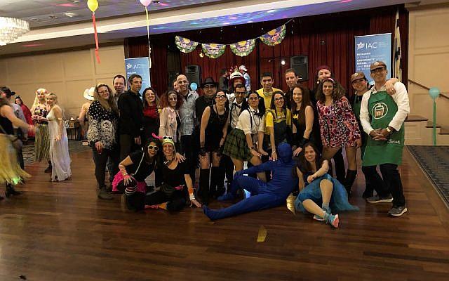 "Pittsburghers celebrate Purim ""Israeli style"" at IAC event. (Photo courtesy of Anat Talmy)"