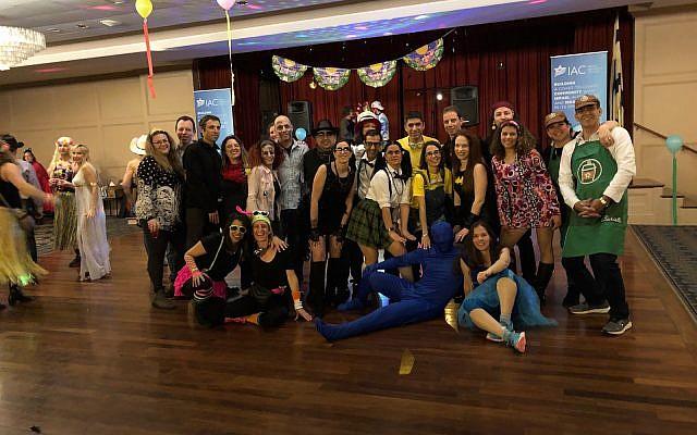 "Pittsburghers celebrate Purim ""Israeli style"" at IAC event. (Photo courtesy of Anat Talmy)"